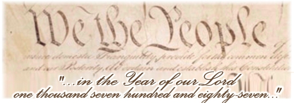 """We the People..."" ""...in the Year of our Lord one thousand seven hundred and eighty-seven..."""
